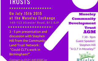 Moseley Community Development Trust AGM