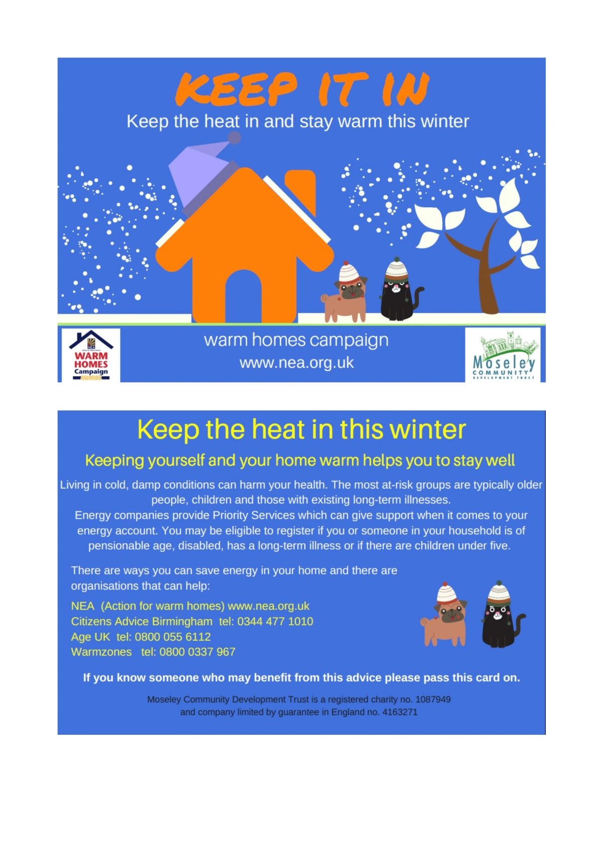 Warm Homes Campaign